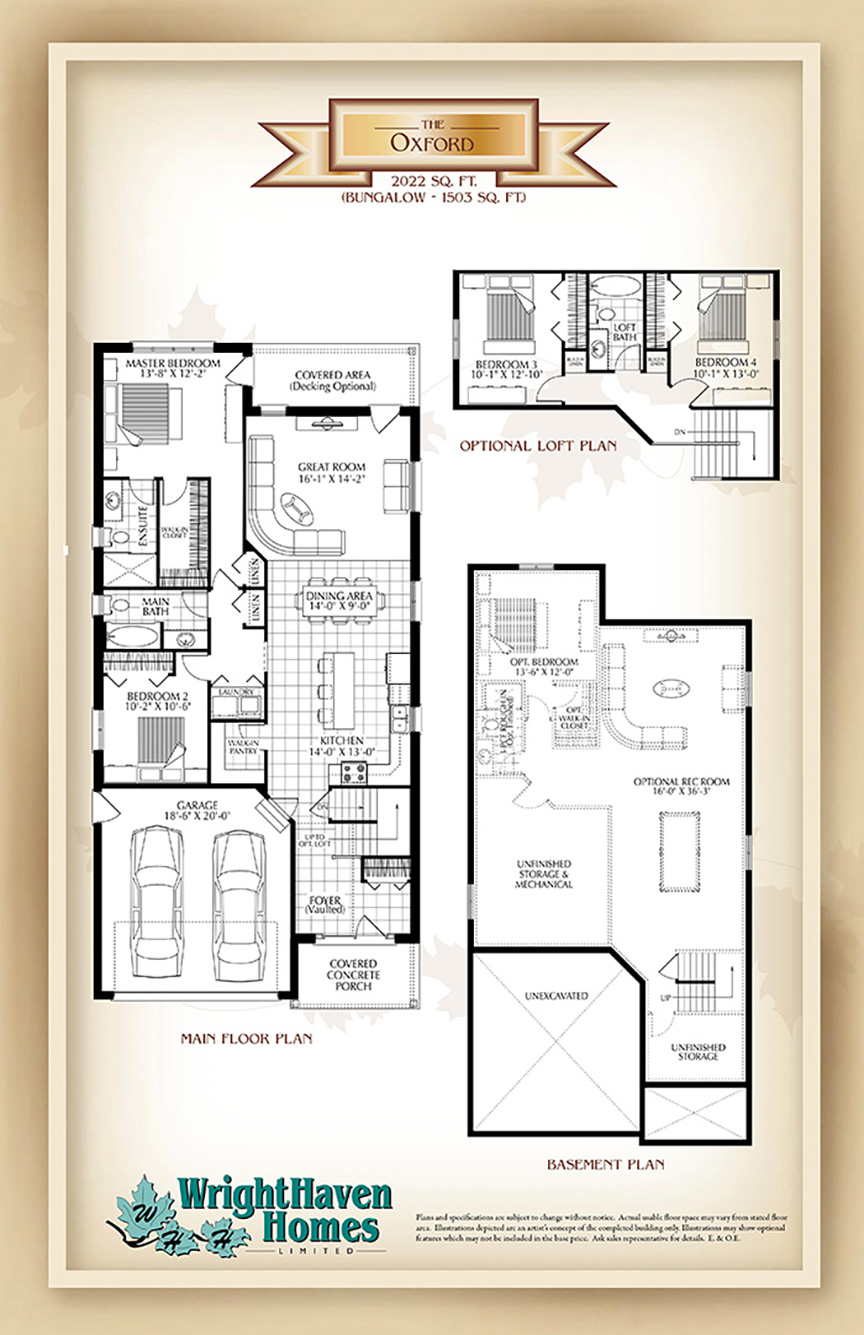 The Oxford floor plans