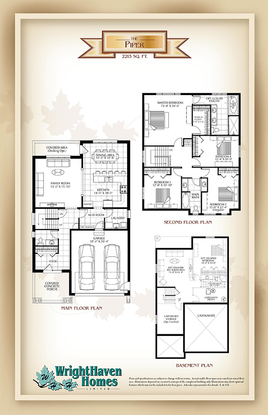 The Piper floor plans
