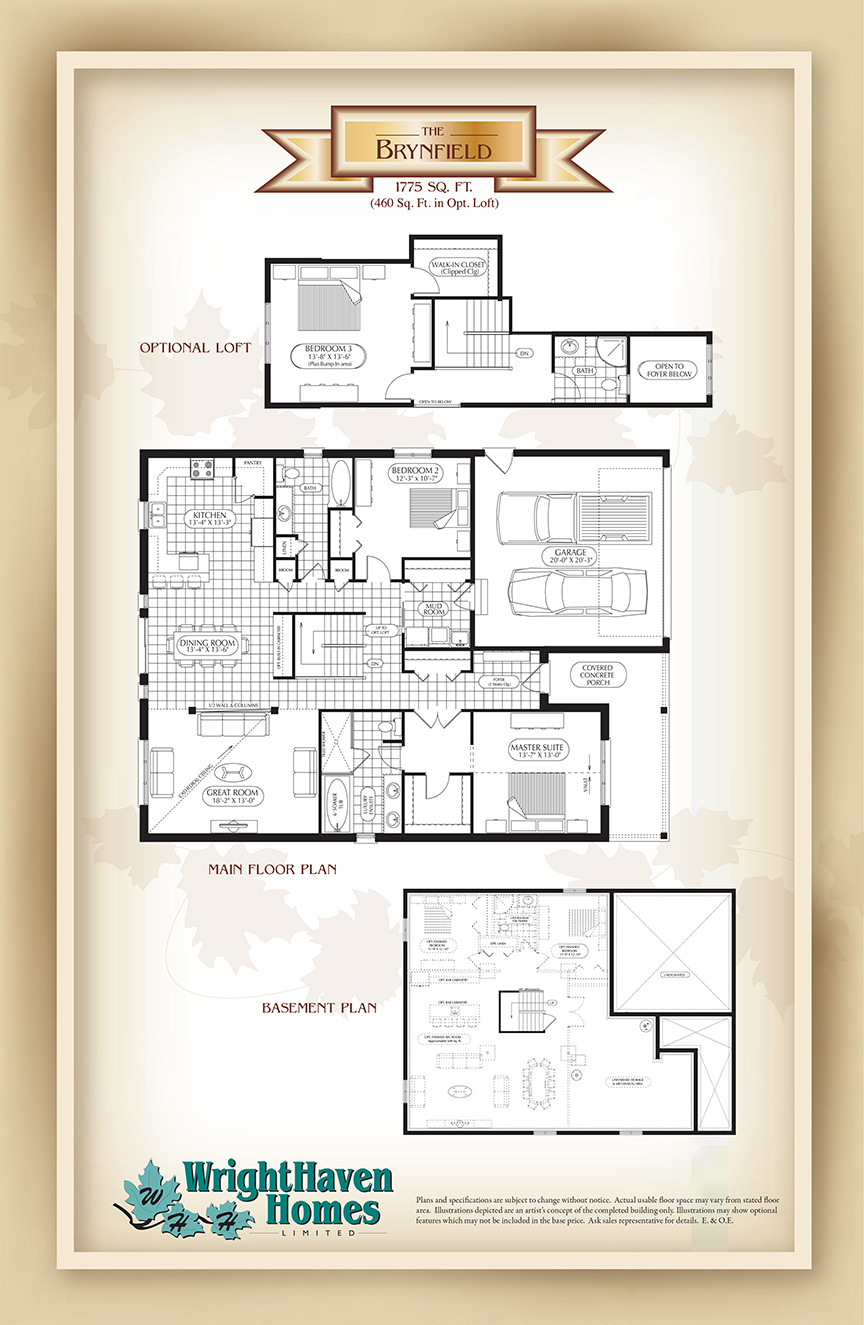 The Brynfield floor plans