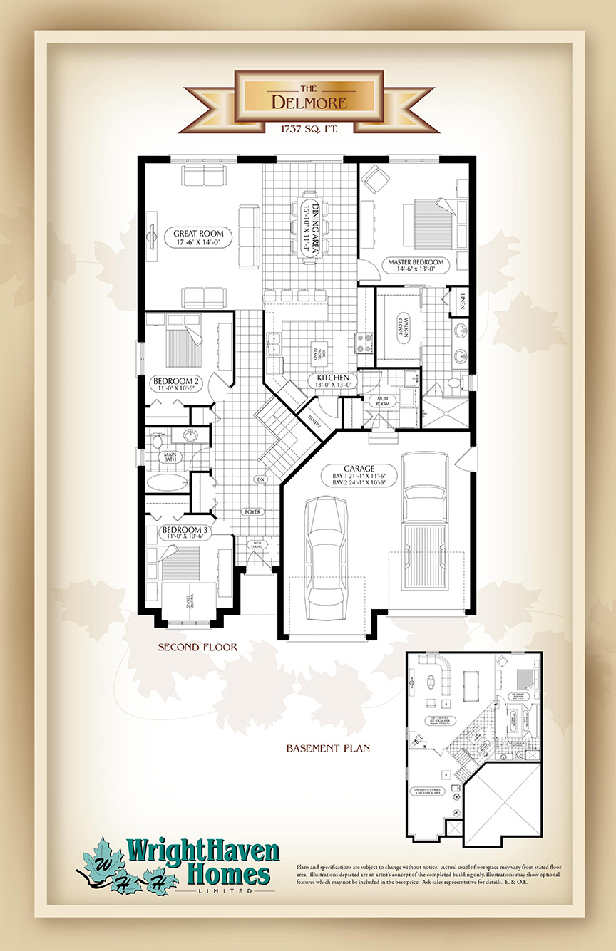 The Delmore floor plans