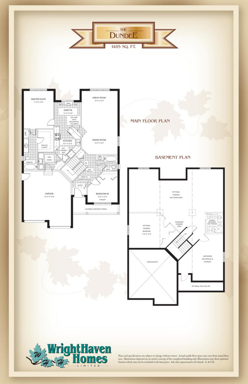 The Dundee floor plans