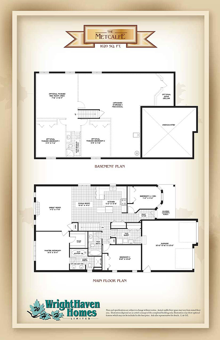 The Metcalfe floor plans