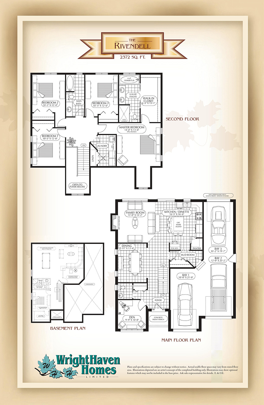 The Rivendell floor plans